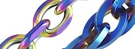 ブルー&レインボーのカラフルなネックレスチェーンが新入荷!