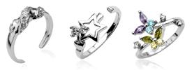 シルバー925足の指輪トゥリング新作通販